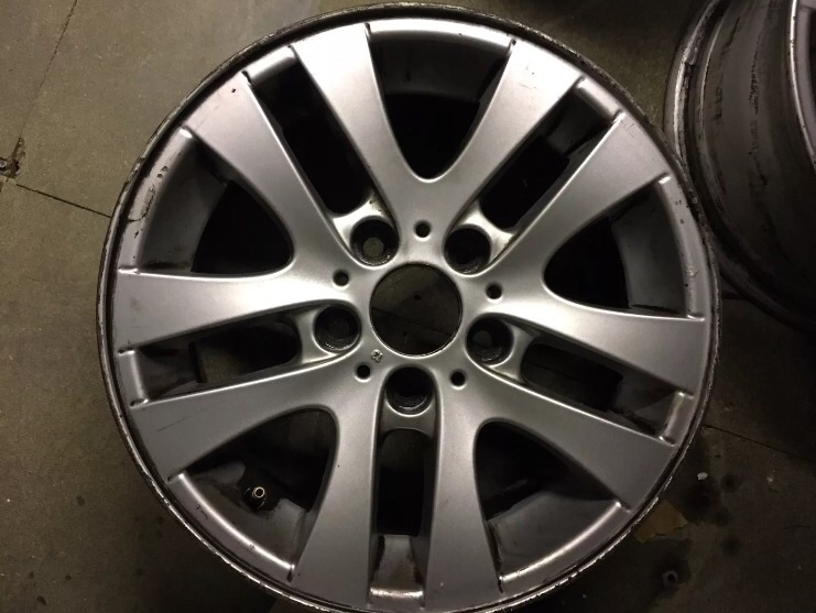"Genuine (OEM) 16"" BMW 3 series E90 E91 Style 156 double spoke alloy wheels"
