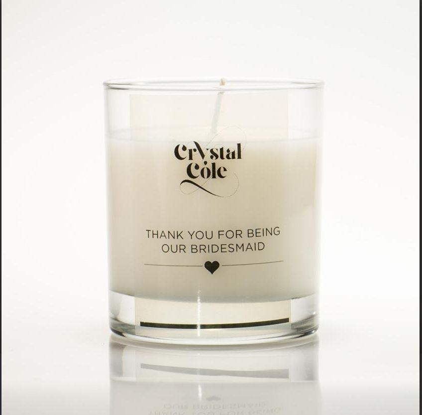 Wedding gift candle