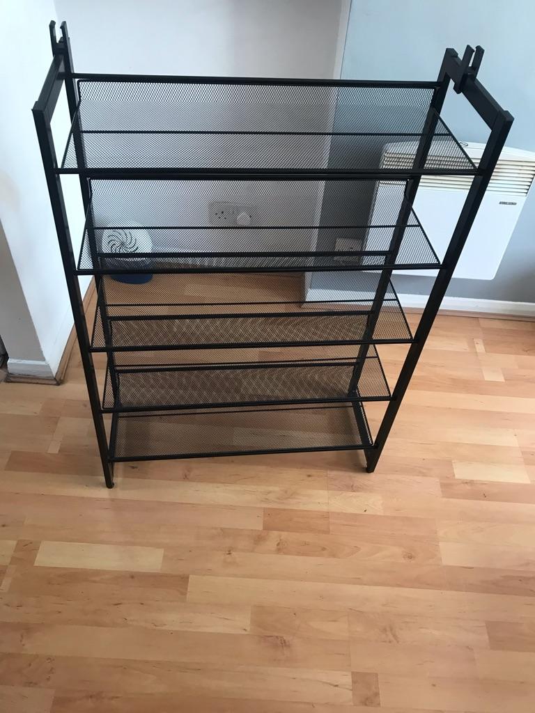 5 tier metal mesh shoe rack
