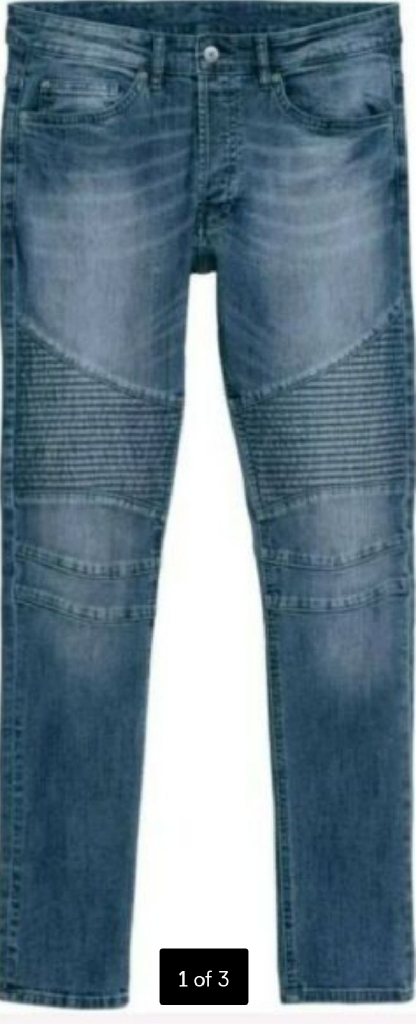 H & M ripped skinny jeans size 28