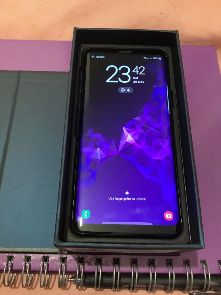 Samsung Galaxy S9 SM-G960F Hybrid Dual Sim Unlocked Midnight Black