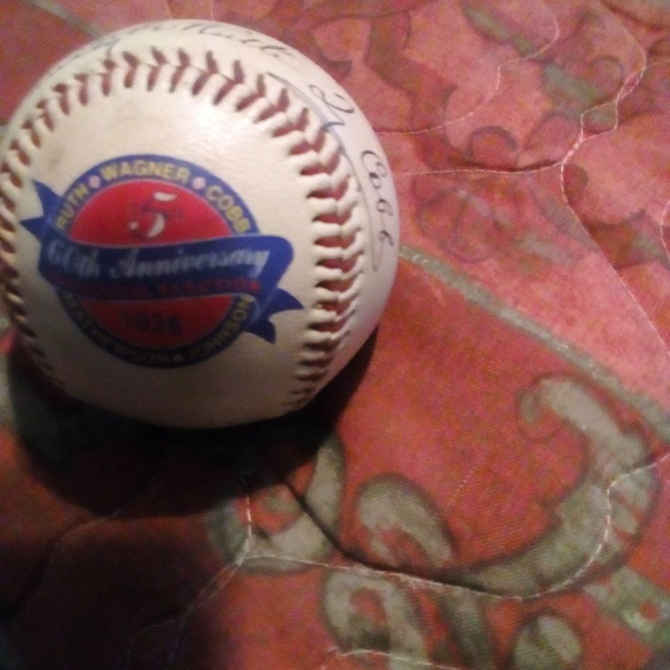 60th anniversary baseball Ruth Wagner Cobb Mathewson Johnson