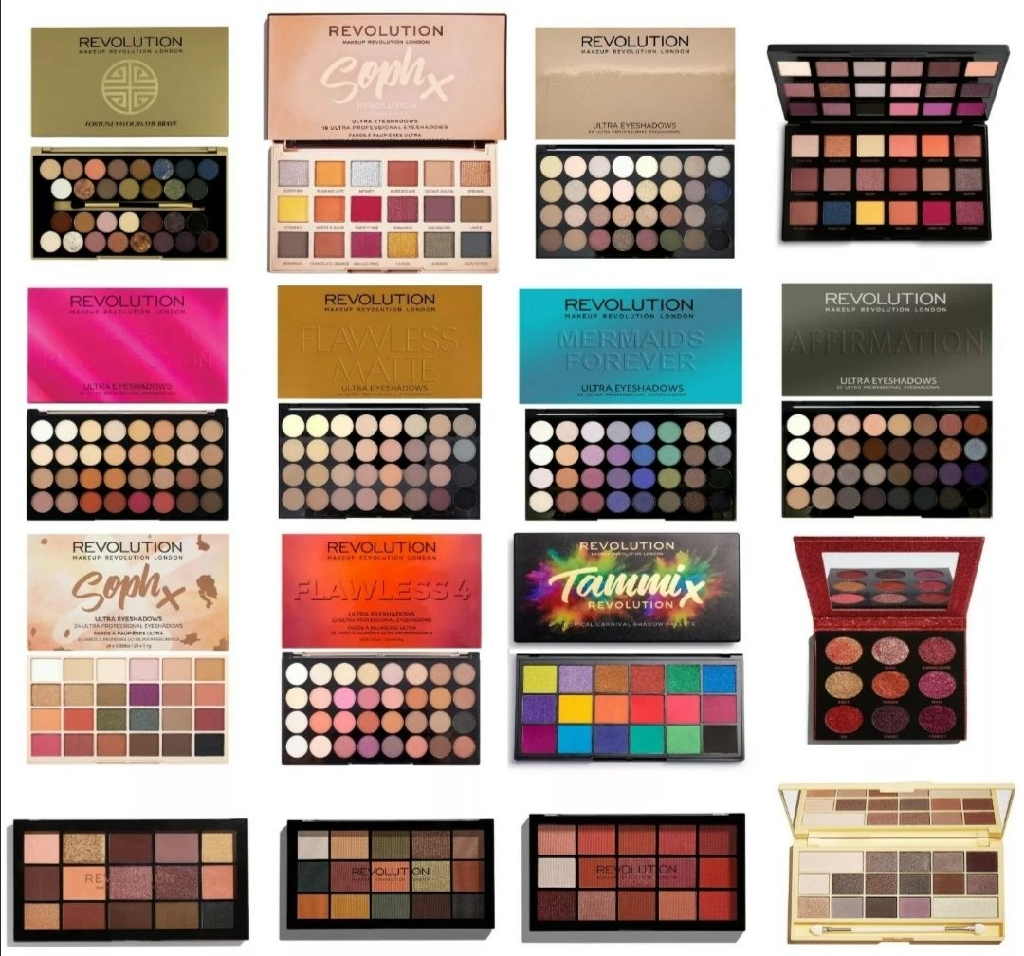 Eyeshadow and lipstick pallets