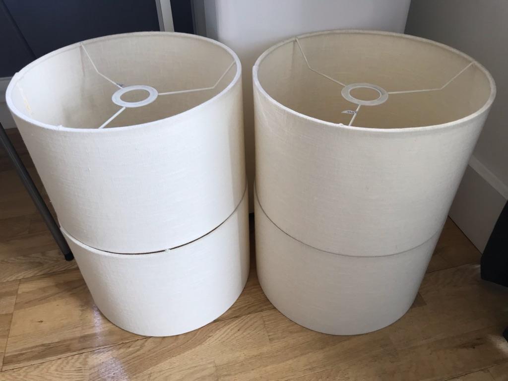 Light Shades Ceiling/Lamp (Cream Fabric Drum) 31Wx20H (cm)