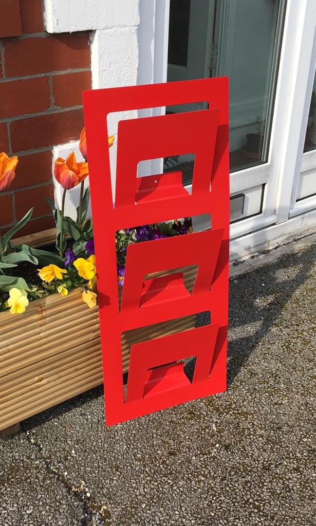 Red Ikea Metal Magazine Rack Skrissel