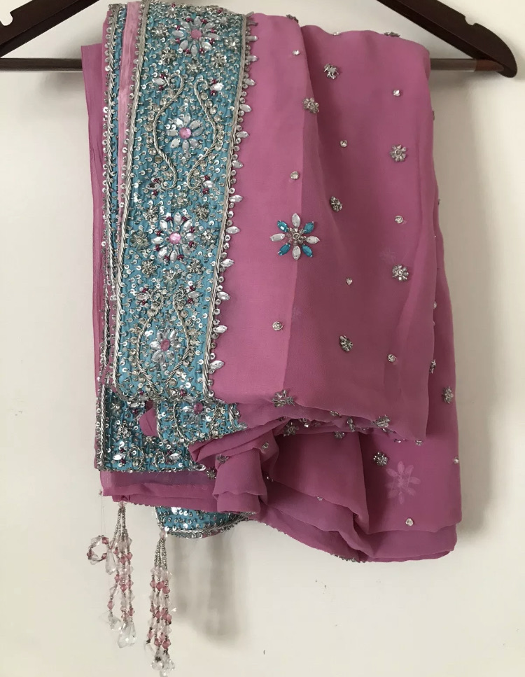 Brand new pink indian saree / sari