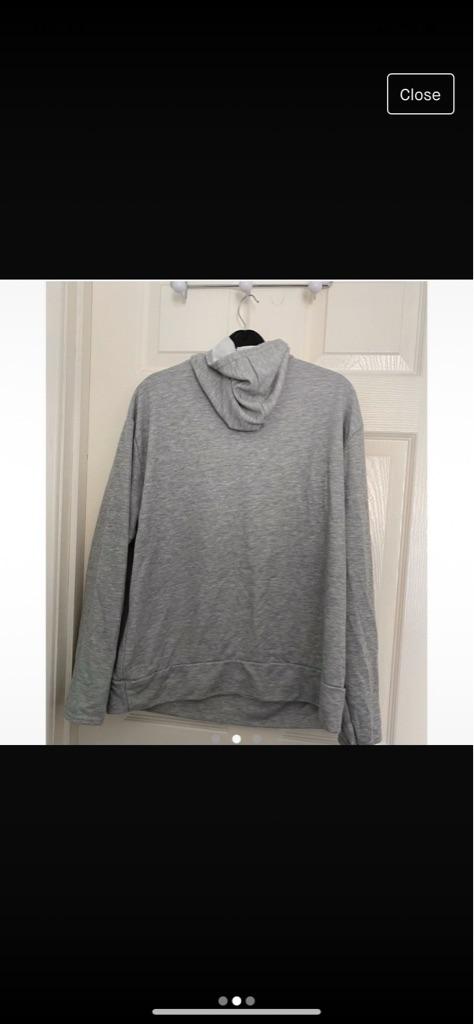 Boohoo grey hoodie
