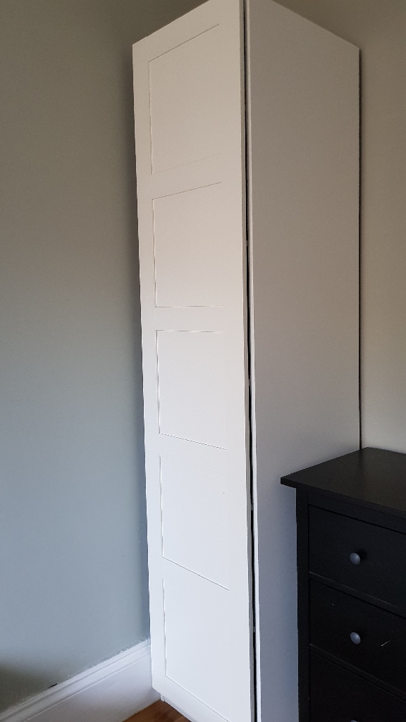 IKEA White Pax Single Wardrobe
