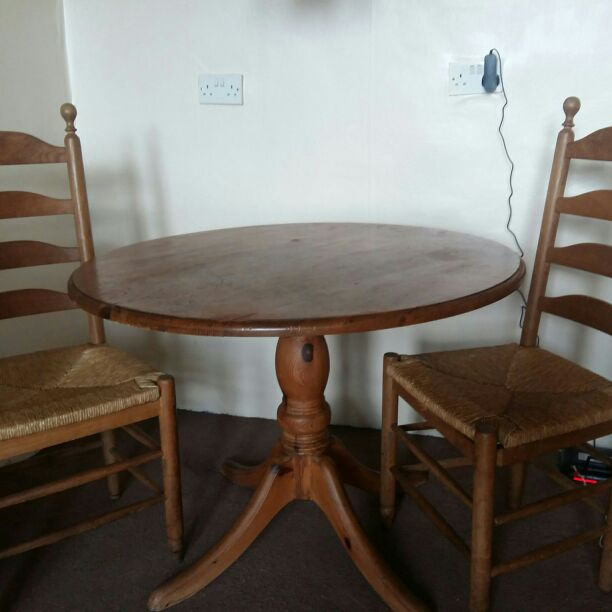 Table and (optional) 2 chairs