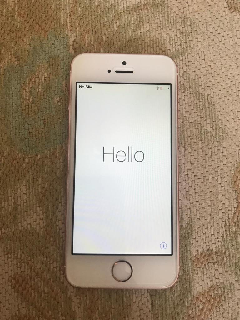 16GB Rose Gold iPhone SE - Unlocked