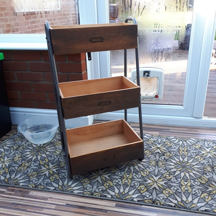 Wooden salvage style unit.