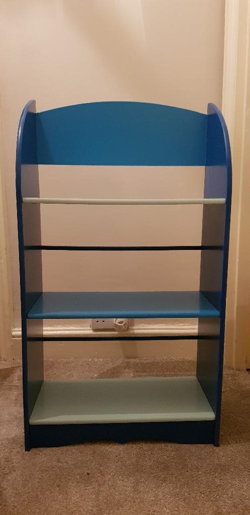 Boys blue bookcase
