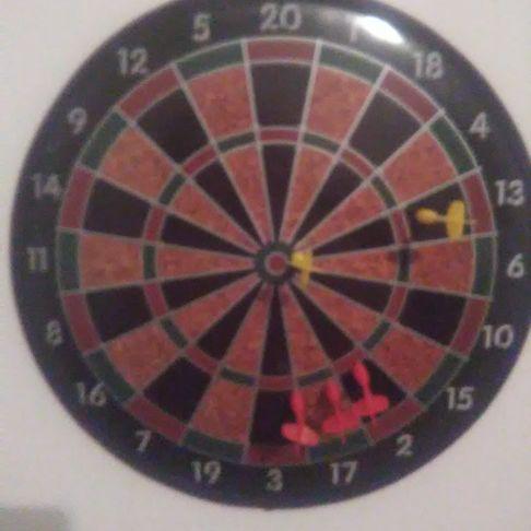 Magnet dart board.