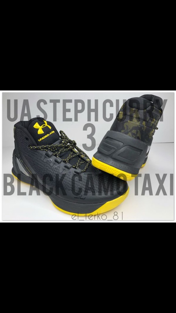 Stephen Curry UA 3 black CAMO taxi shoes