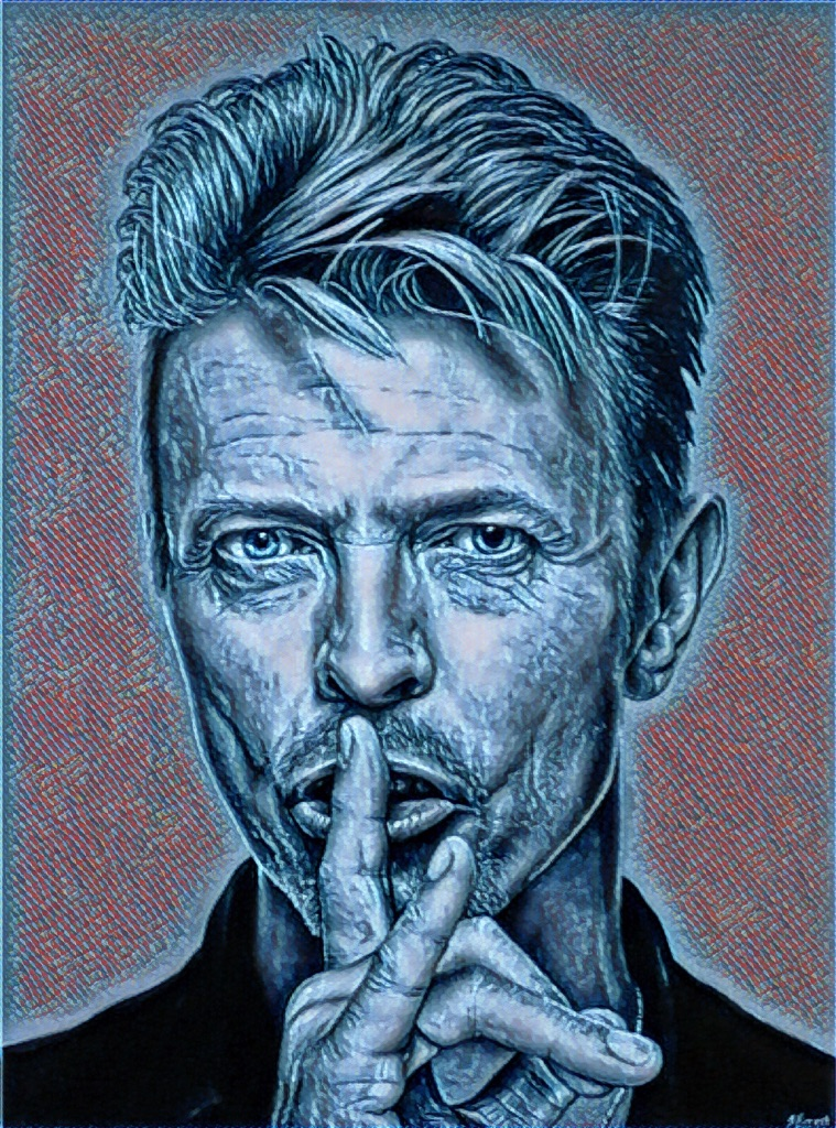 David Bowie Canvas Print Wall Hanging ready to display (new)