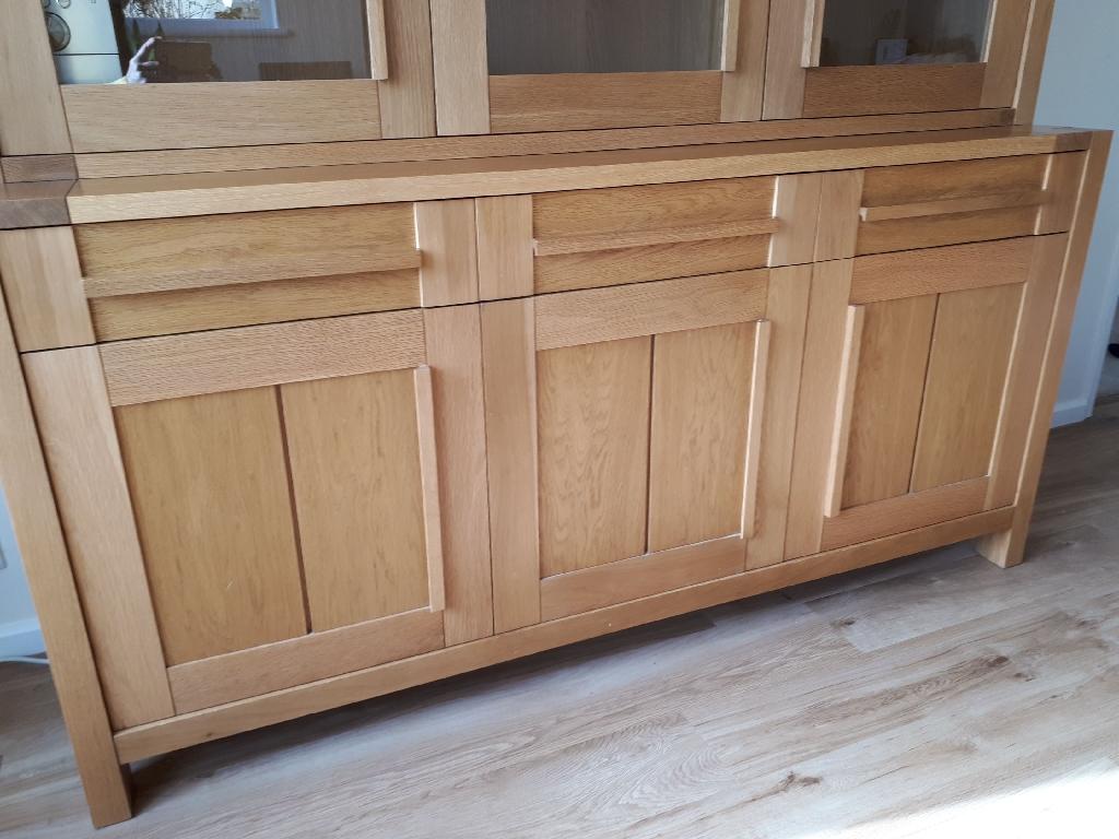 Marks and Spencer Sonoma Oak 3 door Sideboard and Glazed Top Dresser