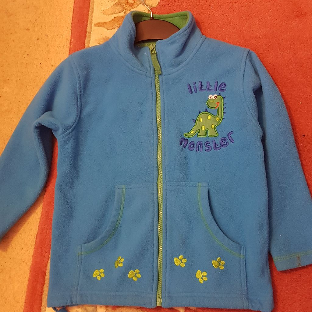 Age 7-8 Little Monster fleece coat