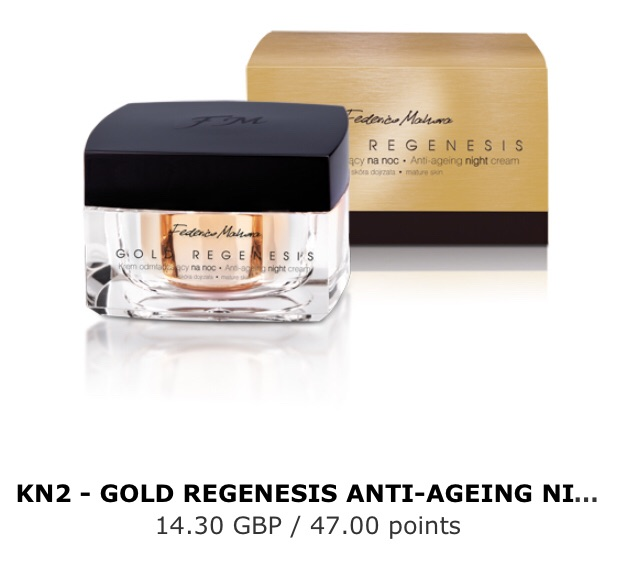 Gold regenesis anti-ageing night cream