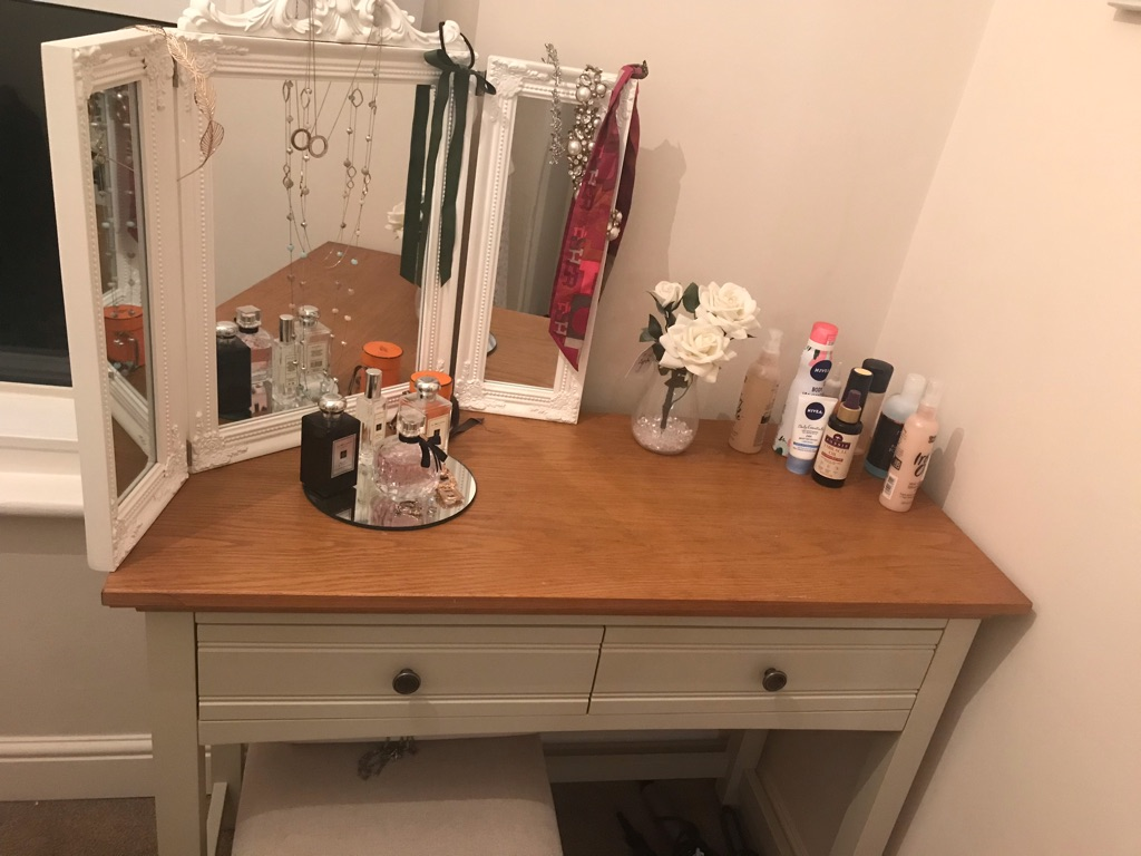 Dressing Table with Stool and Mirror