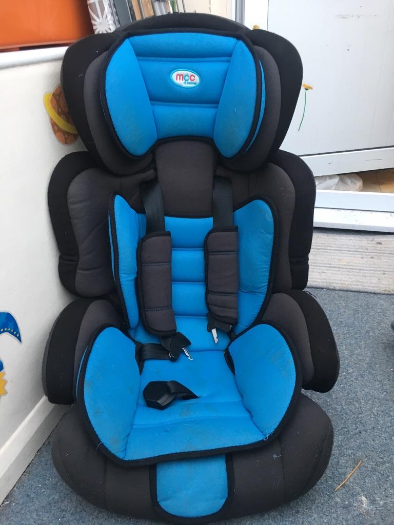 MCC blue car seat