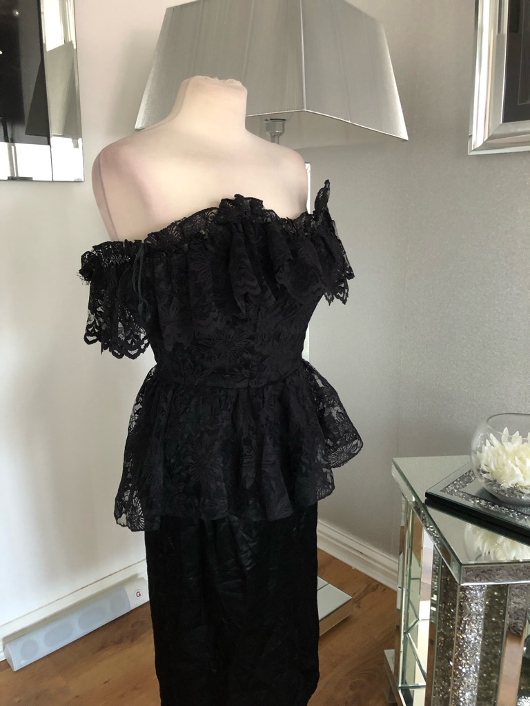 Women's Black vintage dress By jolie Madame size S
