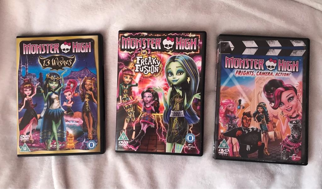 8 Monster High DVDs