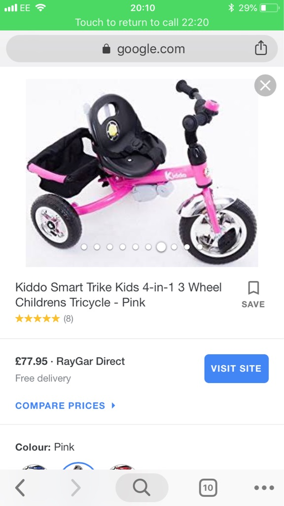 714d757975b ... Kiddo Smart Trike Kids 4-in-1 3 Wheel Childrens Tricycle - Pink. Ask for  extra product image