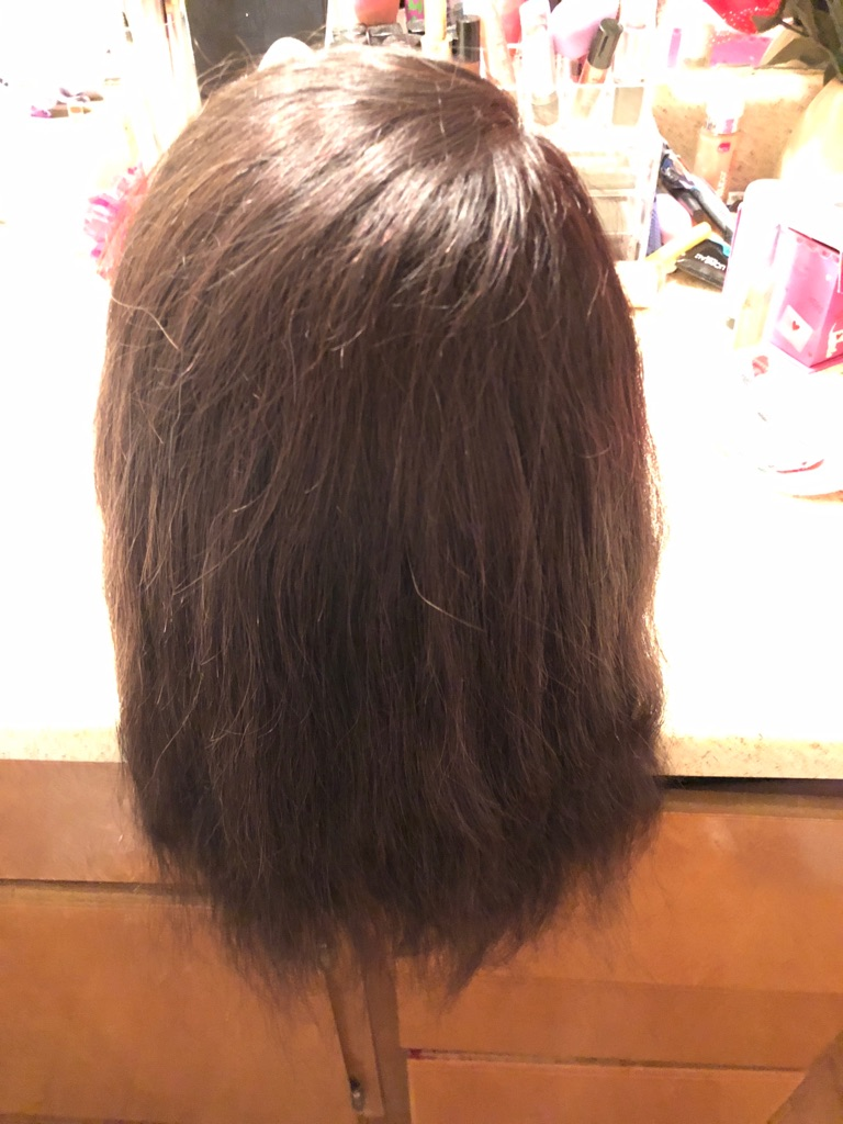 Real hair cosmetology mannequin