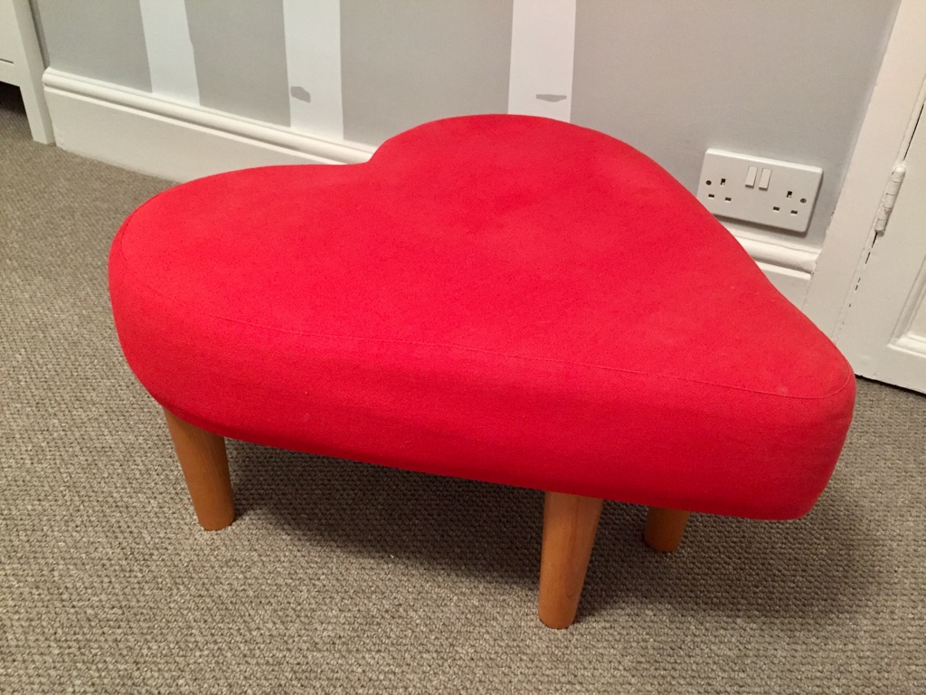 Heart seat/ footstool