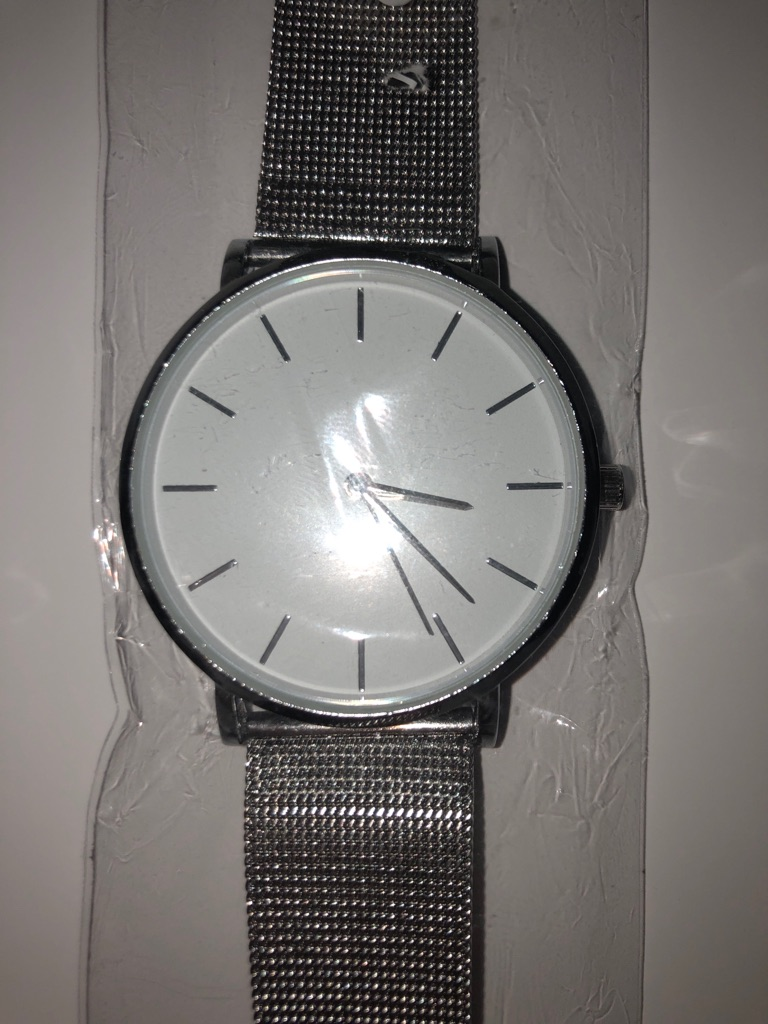 Silver adjustable watch (new)