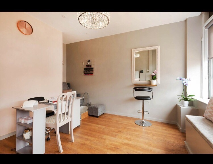 Nail Desk and Makeup Station to rent within a busy beauty salon in Sale, Cheshire
