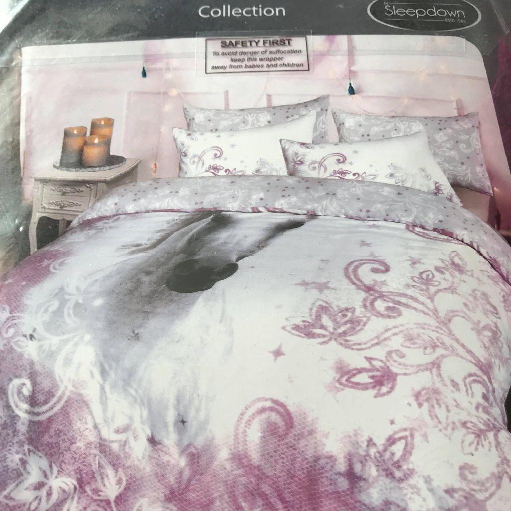 Pretty unicorn duvet set