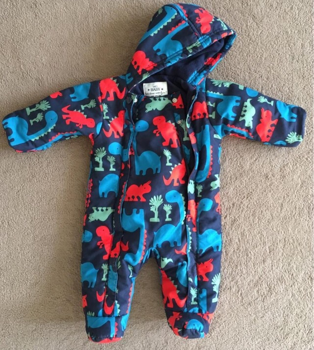M&S Baby 0-3 months all-in-one snowsuit