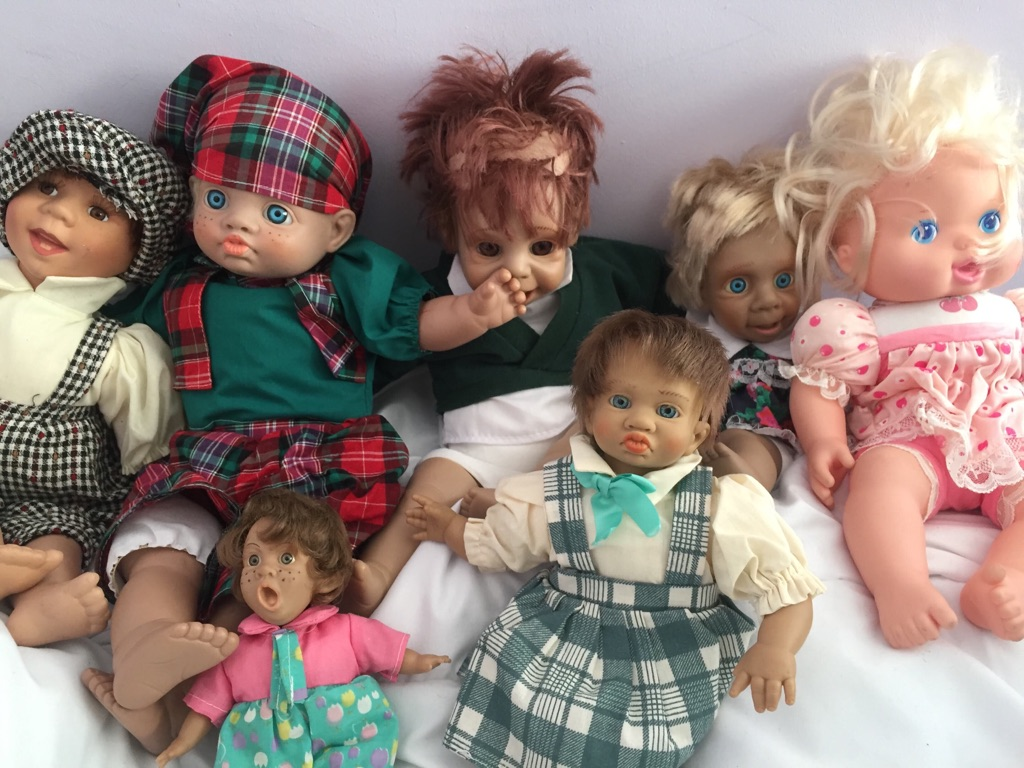 Collection of expression dolls