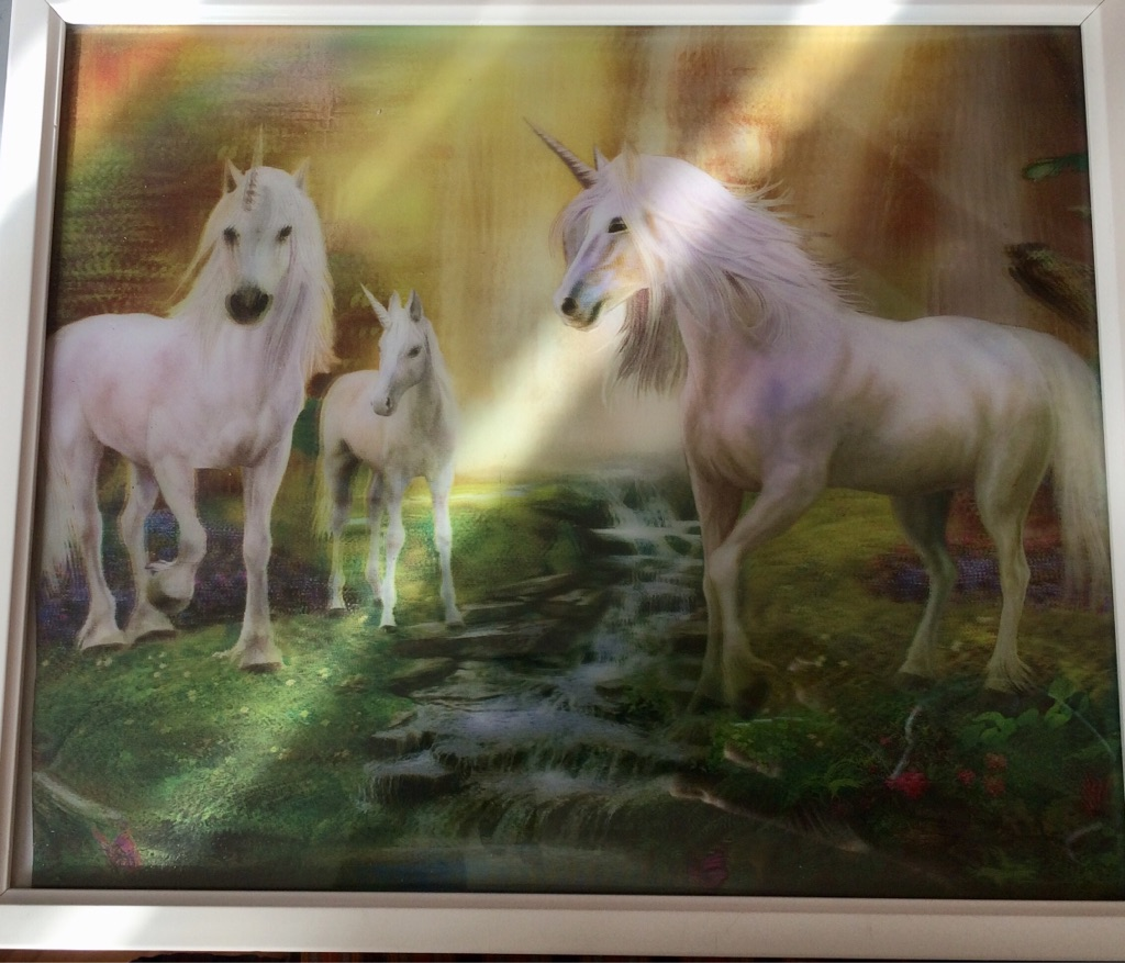 3D unicorns picture