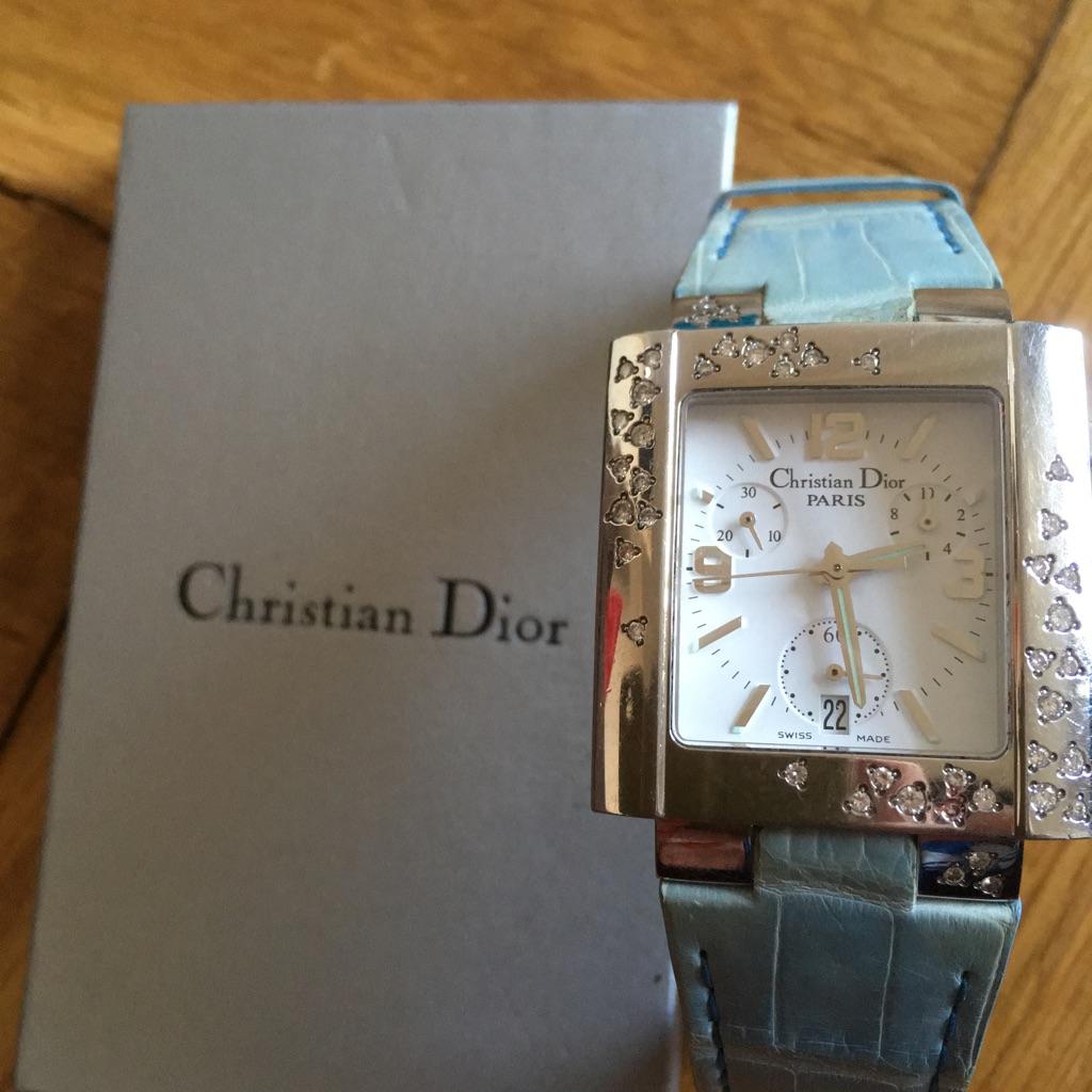 Christian Dior Riva Chronograph diamond wristwatch
