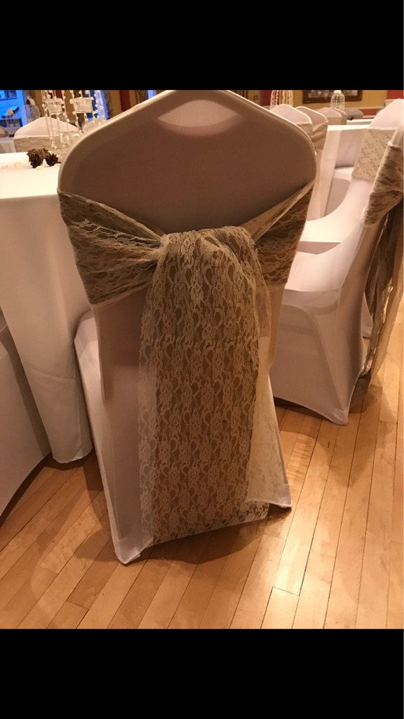 Astounding 100X Hessian Finished Edged Not Cheap Version Sashes 100X Lace Ivory Sashes And 100X White Chair Covers Caraccident5 Cool Chair Designs And Ideas Caraccident5Info