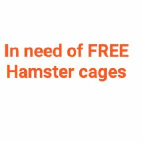 Desperate need of hamster cages