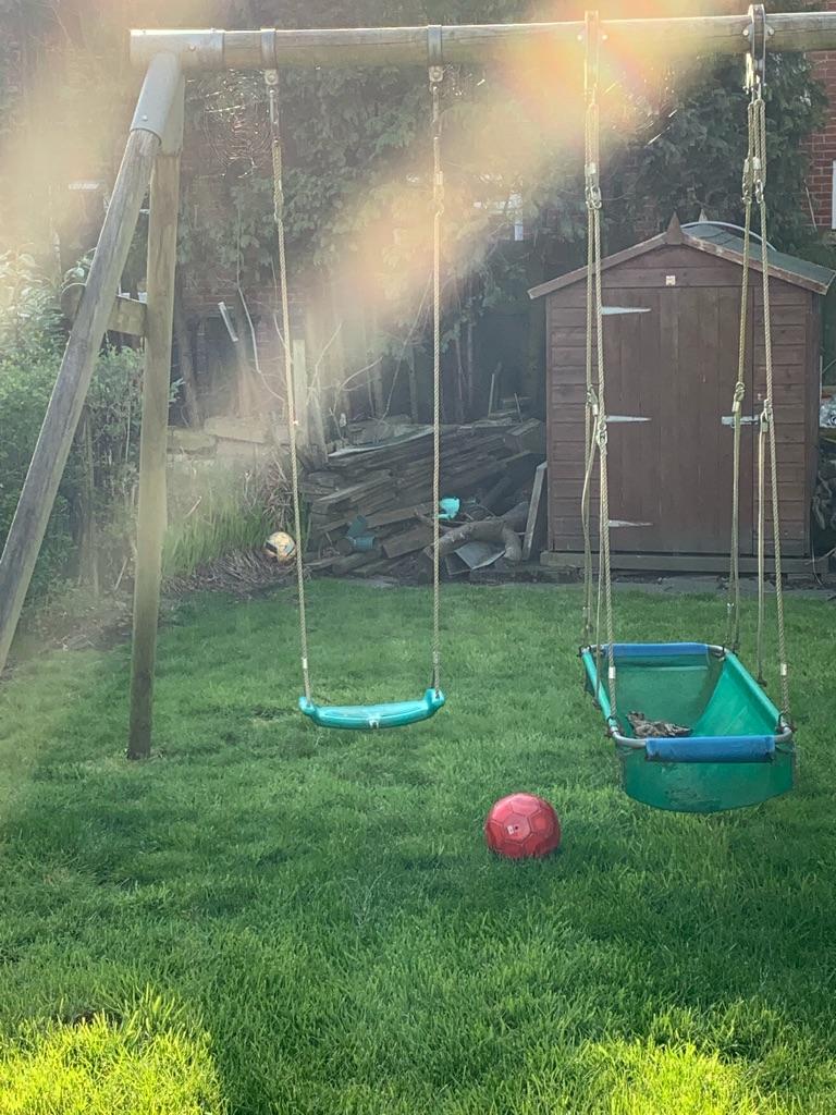 Children's play swing