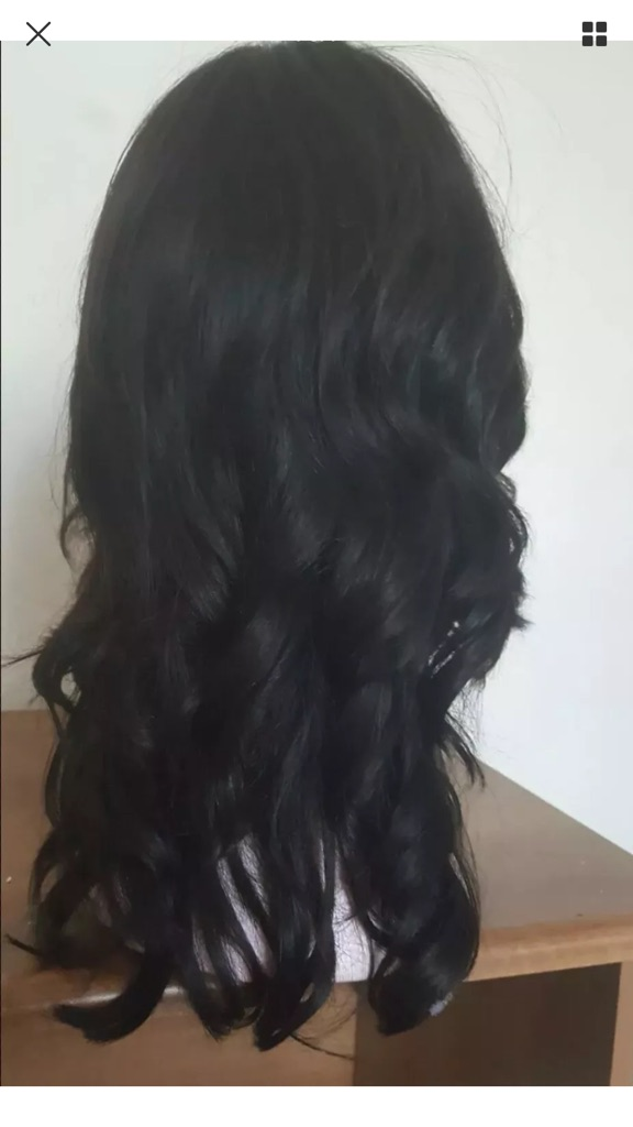 Human hair wig dark brown - stunning hair