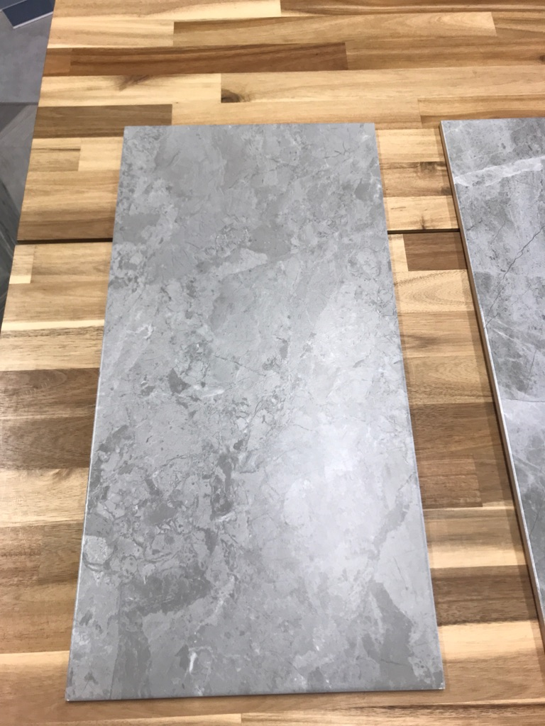 Grey marble 300x600mm ceramic WALL ONLY tiles in gloss or Matt £15m2-