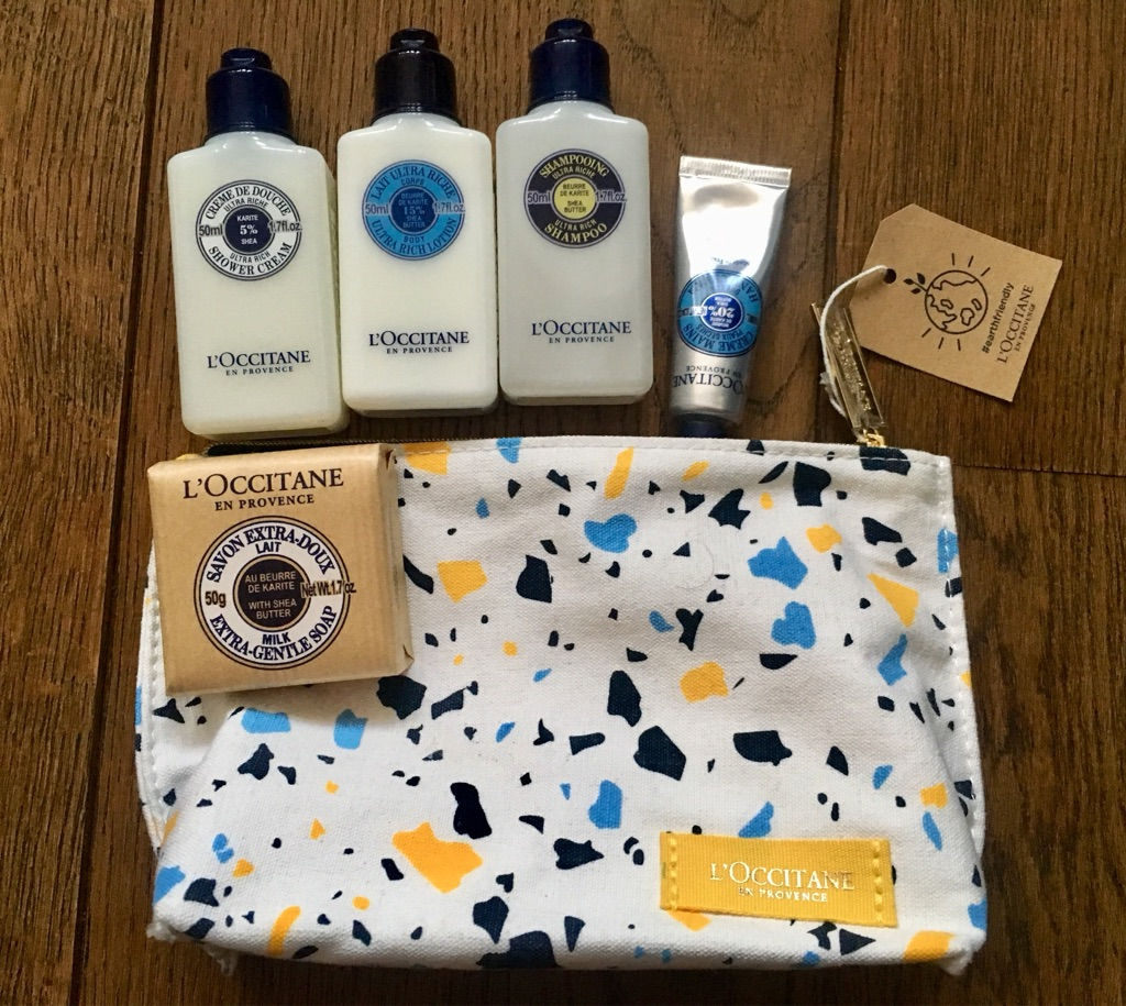 L'Occitane cosmetic travel bag