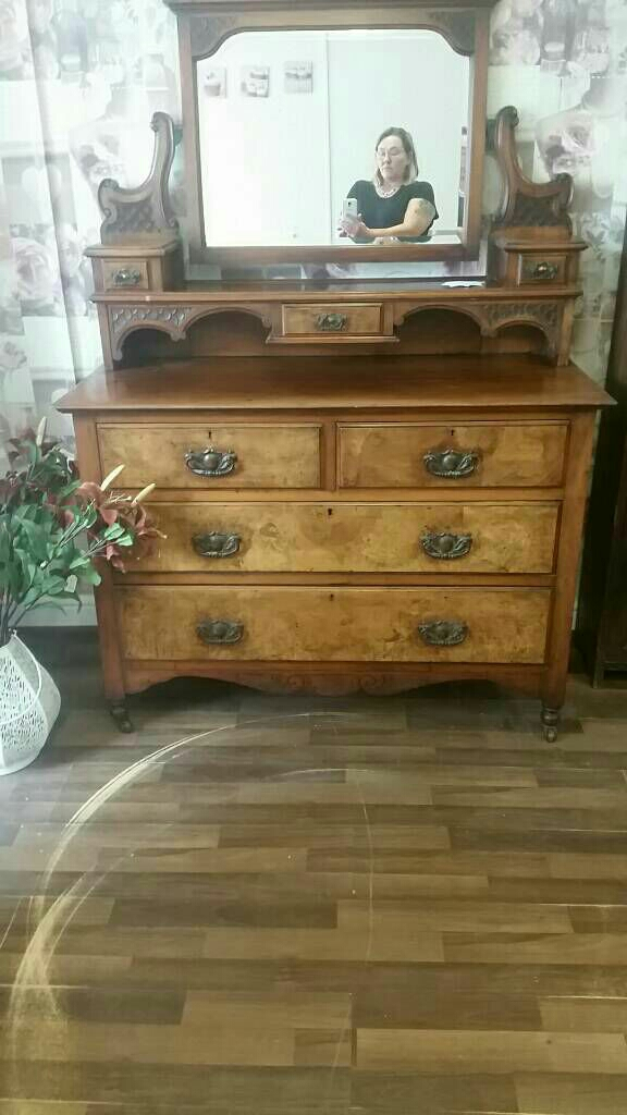 Antique wardrobe and dressing table