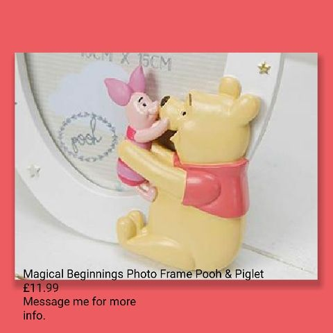 💥Magical Beginnings Photo Frame Pooh & Piglet 💥£11.99 🚚free delivery.🚚