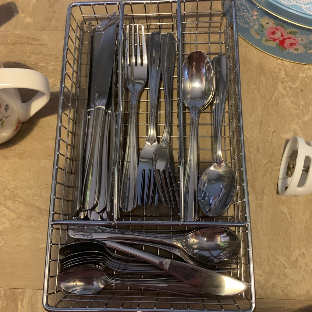 Viners cutlery and tray