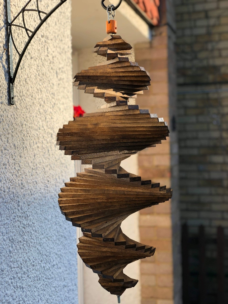 HUGE WOODEN WIND SPINNER