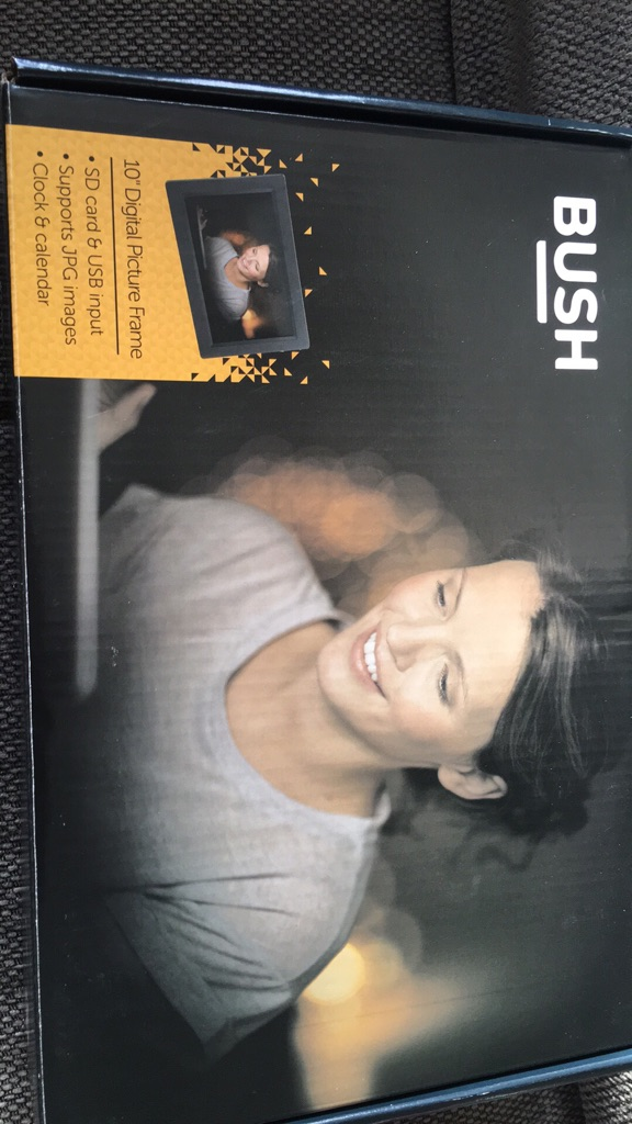 "Bush 10"" Digital Photo Frame High Res RRP £59.99"