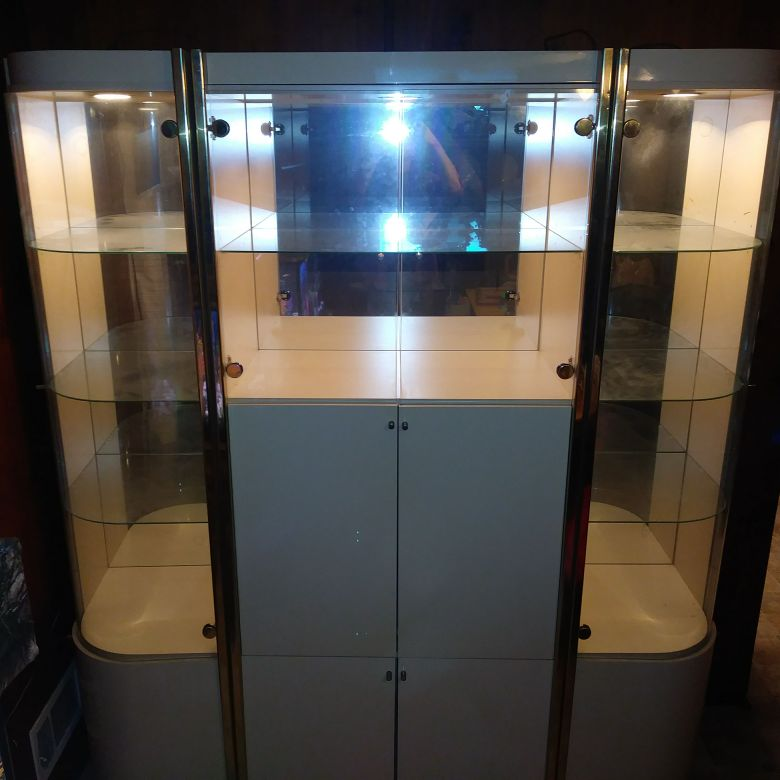 Entertainment center/mirrored display cabinet