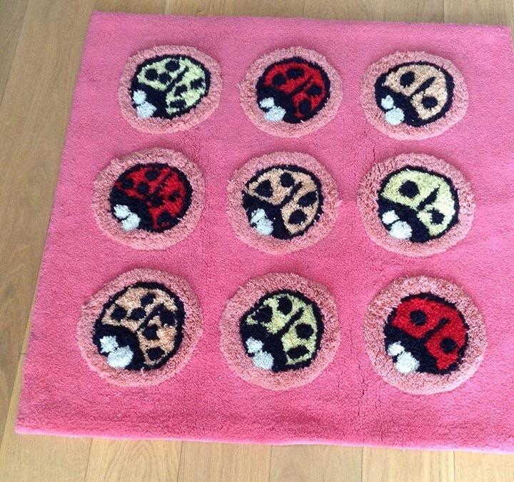 Children's ladybug rug - nursery