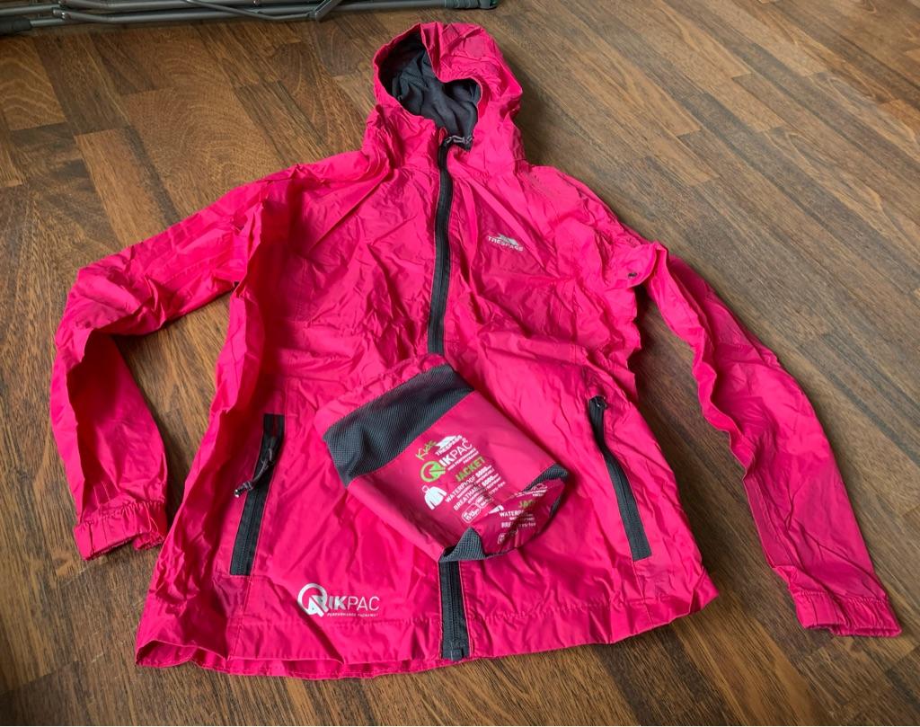 Trespass pink waterproof jacket 11-12 years